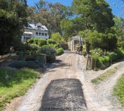 Steep Asphalt Driveway Construction