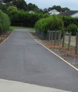 Brick edged asphalt driveway in Narre Warren North.